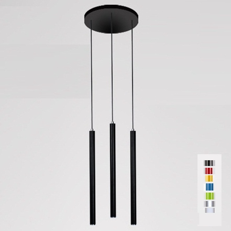 LukLoy Pendant Lights 3 Heads 3cm Modern Kitchen Lamp Dining Living Room Shop Light Pipe Pendant Lights Bar Counter Spot Light a1 master bedroom living room lamp crystal pendant lights dining room lamp european style dual use fashion pendant lamps