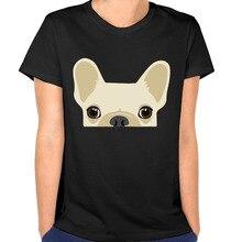 Women's Tumblr Funny French Bulldog Cute Dog Cotton O-neck Female T-shirt