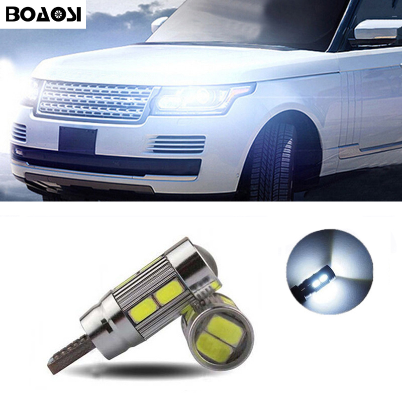 BOAOSI 2x Car T10 w5w LED Width Lamp light for Land Rover v8 discovery 4 2 3 x8 freelander 2 defender A8 a9