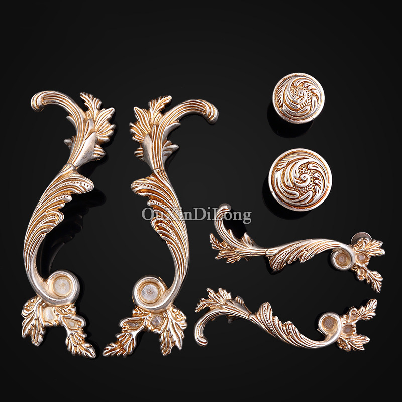 NEW 5Pair or 10PCS Furniture Handles European Antique Drawer Dresser Wardrobe Cupboard Cabinet Kitchen Pulls Handles and Knobs цена
