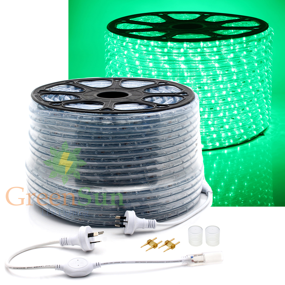20-50M Green LED Strip Light 36leds/m 2-Wire Waterproof IP68 Home Garden Xmas Lamp LED Strip Light With Power line колонка interstep sbs 150 funny bunny light green