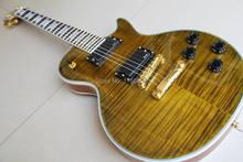 Neue Kundenspezifische Elektrische Gitarre Khaki Braun Platzen kostenloser versand 120508