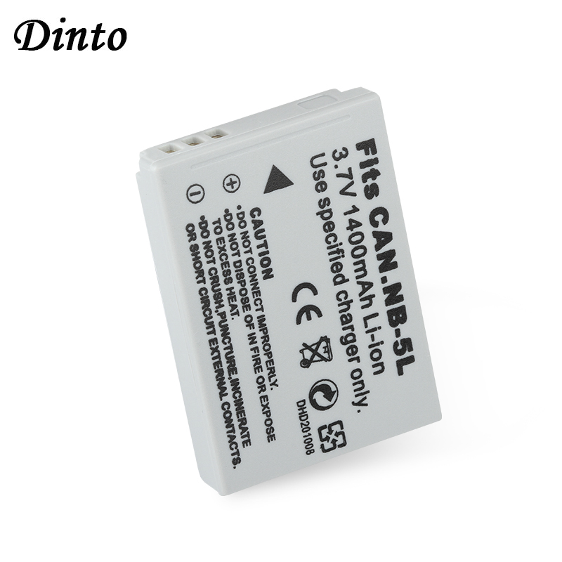 Dinto 1pc NB-5L NB5L NB 5L Replacement Digital Camera Battery For Canon IXUS 800 IS 850 900 TI 950 960/970 980 860 SX210 SX230