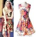 Vestido sem mangas verão, top summer24 cores flor da mulher impresso vest WL2204