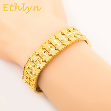 Ethlyn Male  Bracelet Men Jewelry  Hip hop style High quality gold Color preserving Persistence  MEN  gift B12