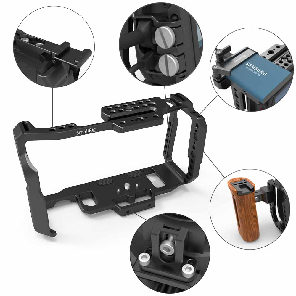 Image 5 - SmallRig Cage for Blackmagic Design Pocket Cinema Camera 4K BMPCC 4K / BMPCC 6K With NATO Rail Thread Holes for DIY Options 2203-in Camera Cage from Consumer Electronics