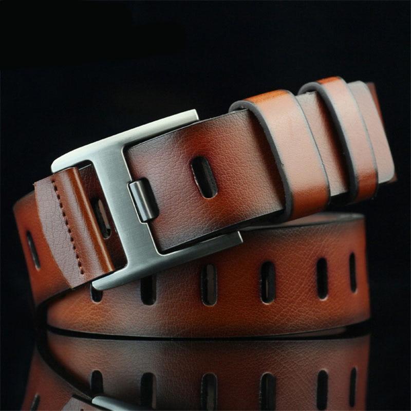 Men Belt For Jeans Luxury Designer Belt Men Cinturones Brown Pin Buckle Lether Belt Male Belt