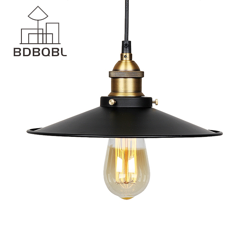 BDBQBL Vintage Pendant Lights Industrial Loft American Retro Lamps Creative Restaurant Dining Room Lamp Bar Counter E27 Holder vintage pendant lights industrial loft american retro lamps creative restaurant dining room lamp bar counter incandescent bulb