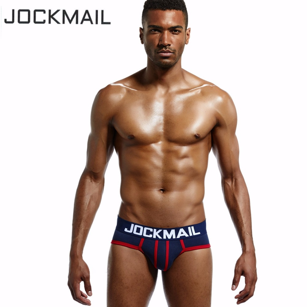 JOCKMAIL Brand Men Underwear briefs Cotton Sexy U convex calzoncillos hombre slips cueca Gay underwear mens bikini panties