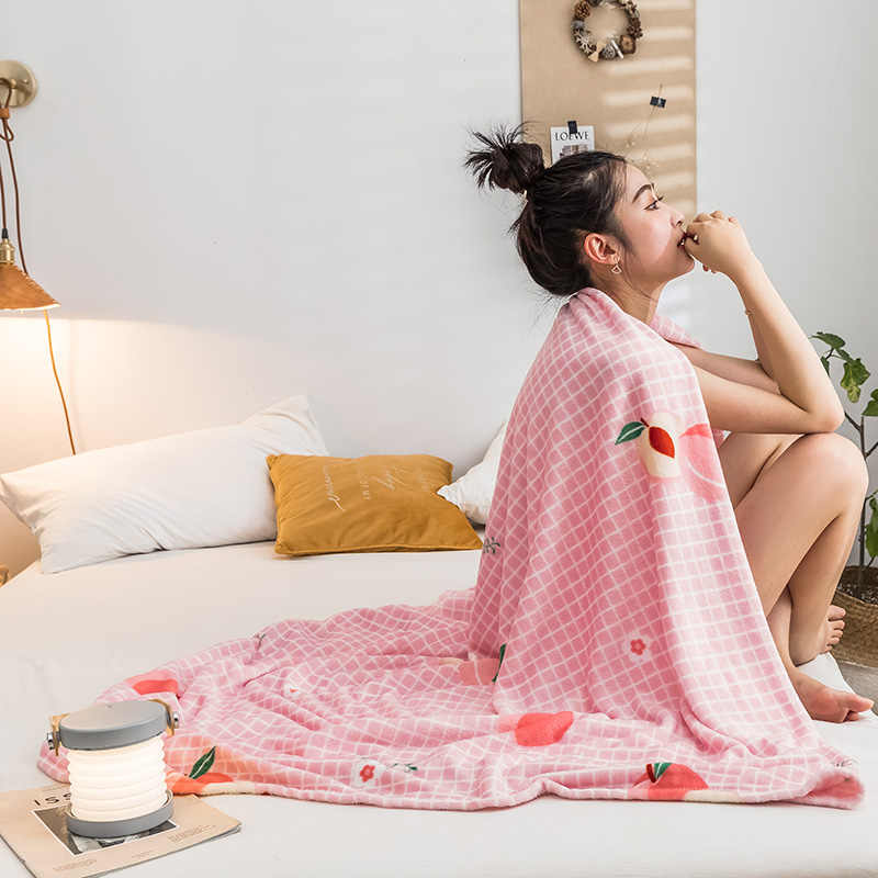 LREA розовый плед персиковый коралловый флис пледы покрывала одеяло для кроватей зимний дом текстильные украшения для детей или взрослых