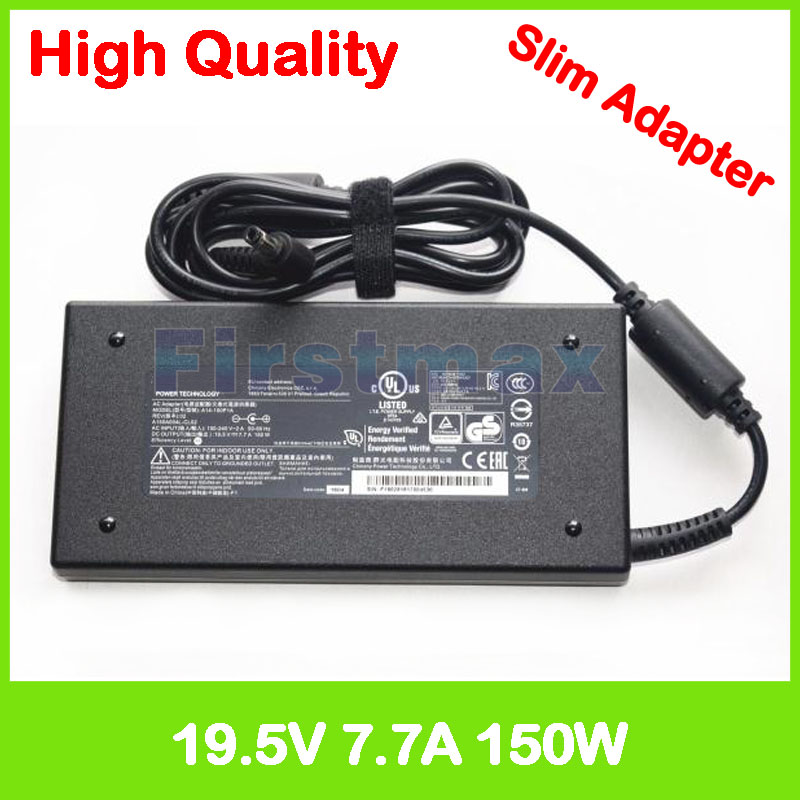 Slim laptop charger 19.5V 7.7A 19V 7.9A ac power adapter for MSI E6603 E6603S GE62 7RE MS-16J1 MS-16J4 MS-16J5 ADP-150VB B 19 5v 9 23a laptop charger adp 180mb f fa180pm111 ac power adapter for asus rog g750 g751 g750j g751j g750jm g751jm g750js