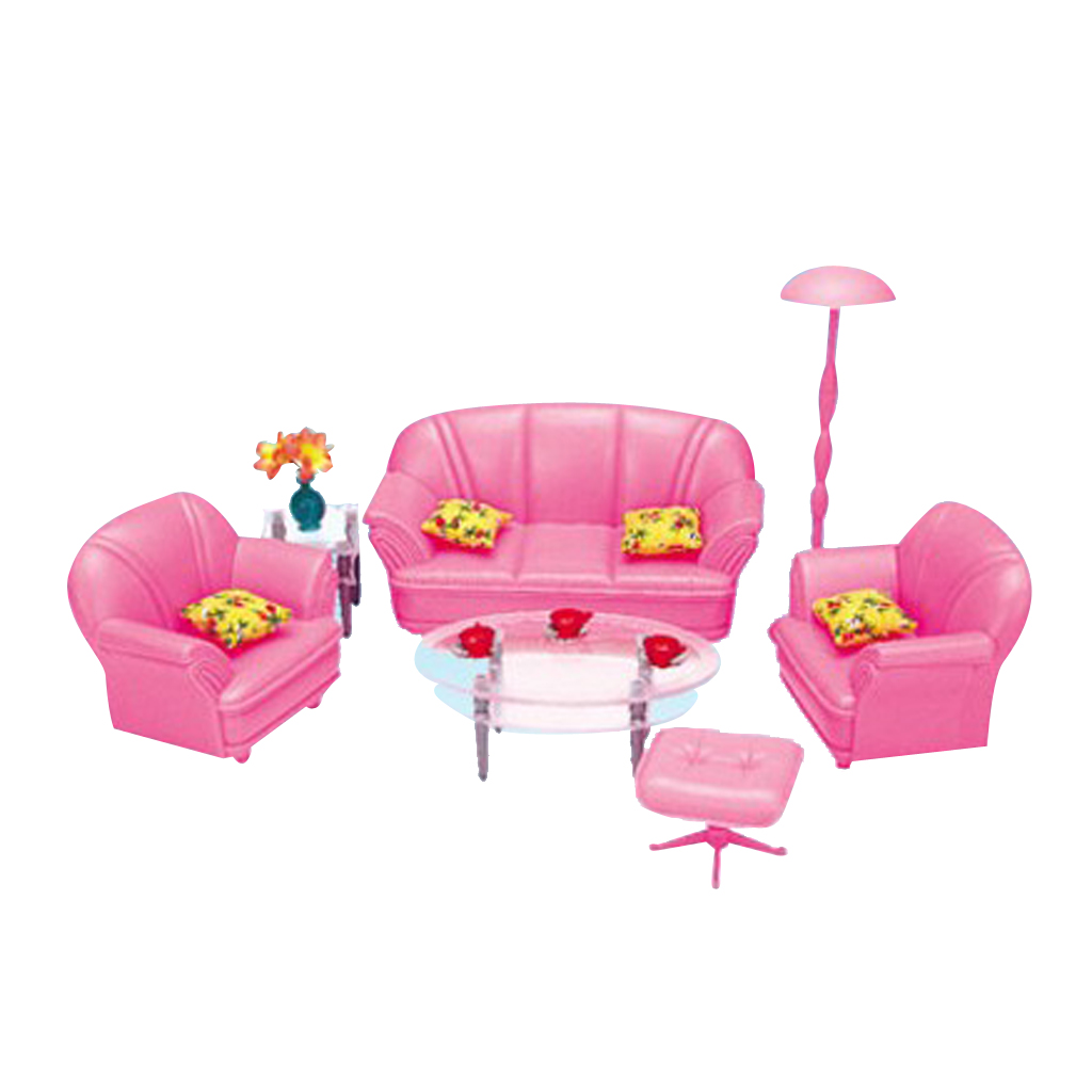 1/6 Miniature Sofa End Table Chair Furniture for Barbie Dollhouse Hot Toys Figures Accessories Kids Pretend Play Toy