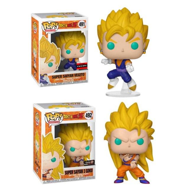 FUNKO POP! Dragon Ball Super Saiyan GOKU VEGITO 3 Tema Quente Exclusivos Brinquedos Action Figure model Collection toy presente