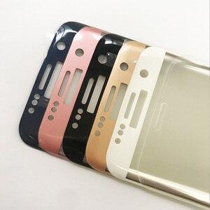 Image 2 - Vetro a schermo intero per Samsung Galaxy S7 S7edge S8 pellicola salvaschermo S6 edge Plus vetro temperato rosa blu argento oro trasparente B W