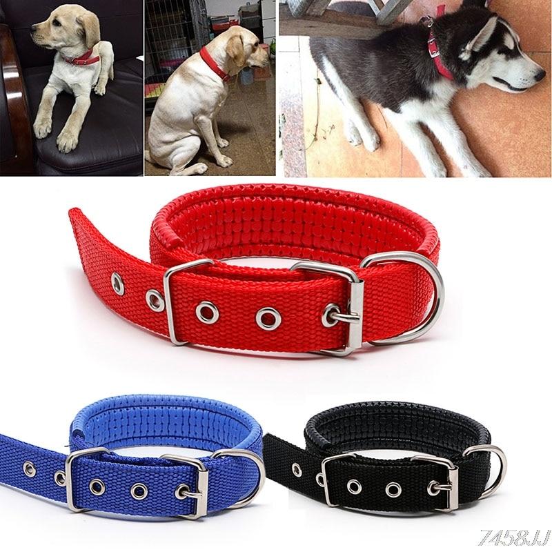 nice 1Pc Adjustable Safety Dog Collars 3Colors Sponge Foam Doggie Pet Neck Strap Nylon Collar 3 Size G03 Drop ship