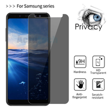 9H Privacy Anti Spy Tempered Glass Screen Protector Film For Samsung Galaxy J6 On6 J8 On8 J3 J5 J7 2017 Protective Film hotsale 9h 2 5 d anti spy privacy premium tempered glass screen protector for samsung galaxy note 3