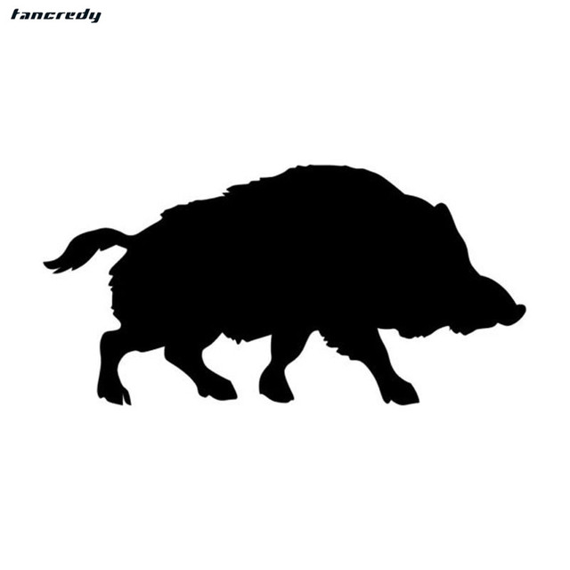 3d funny wild boar pig car stickers 15276cm fashion