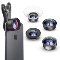 APEXEL 5in1 Camera Phone Lens Kit HD 4K Wide Angle Telescope super Fisheye Marco Phone Lenses for iphone Samsung Xiaomi Huawei