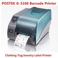 Postek G 3106 Barcode Printer Thermal/Thermal Transfer Label Printer Jewelry label/Commodity Label/Logistics Label Printer