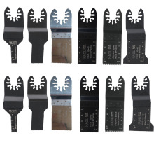 12pcs Oscillating Tool Saw Blades Accessories fit for Multimaster power tools as Fein, Dremel etc mixed size