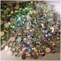2028NoHF Cristal AB Rhinestone para Nails Art Todos Os Tamanhos SS3-SS20-SS40 Sew Strass Pedras e Cristais Strass De Vidro