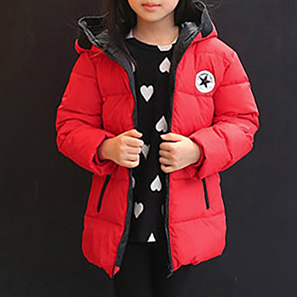 Boys Winter Cloak Snowsuit Jacket Coat Outerwear Baby-Girl Kids Children Thick Hooded