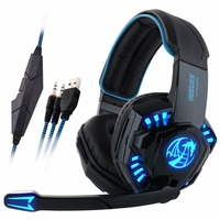 Noswer I8 Led Stereo Headset Computer Headphones Earphones With Microphone For Gaming PS4 PC Laptop Gamer