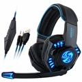 Noswer I8 Led Stereo Headset Computer Headphones Earphones with Microphone for Gaming PS4 PC Laptop Gamer Moblie Phones