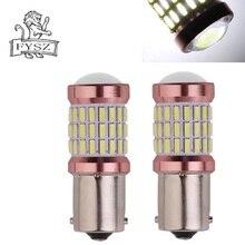 2Pcs New BA15S 1156 7506 P21W 4014 60smd 6500k Automobile LED Bulb CanBus 12-24V decoding highlighter steering light white