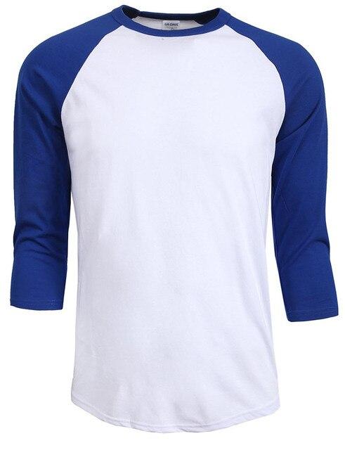 New Fashion 2019 hot sale Homens outono verão O-pescoço 100% Algodão T-shirt dos homens Casual 3/4 Camiseta Manga Raglan Camisa camisa homem