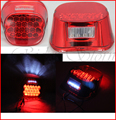 Red LENS LED Crystal Tail Brake Light for Harley Davidson Road King FLHR Classic FLHRC Custom FLHRS Classic EFI FLHRCI Rocker