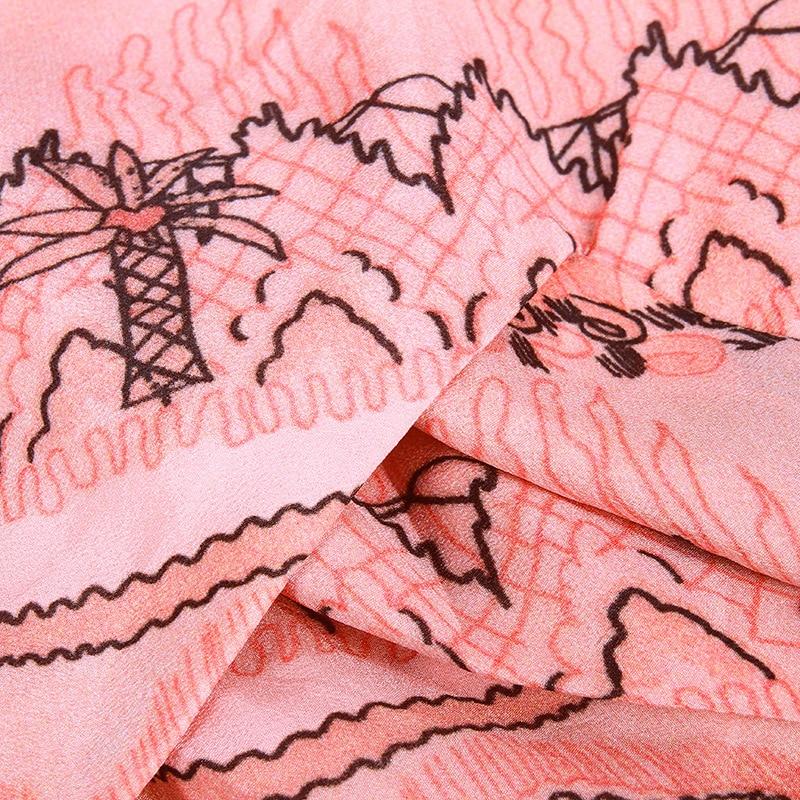 Kamiying Chemises Réel Soie Peinture Imprimer Travail Pink Lady Luxe Top Office Paysage Vêtements Pkhc309 Marque Rose De Formelle Shirt trXCqx7rAw