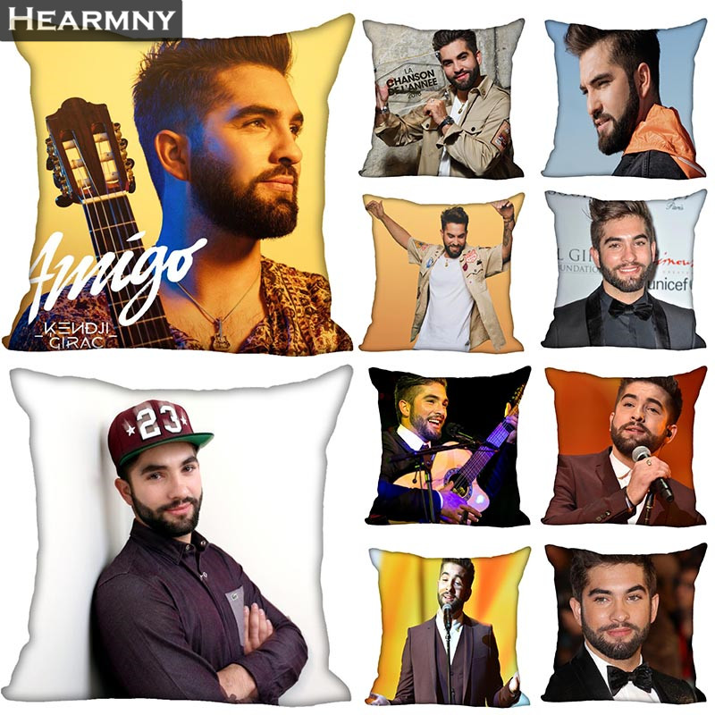 New Arrival Kendji Girac Pillow Cover Bedroom Home Office Decorative Pillowcase Square Zipper Pillow Cases Satin Soft No Fade