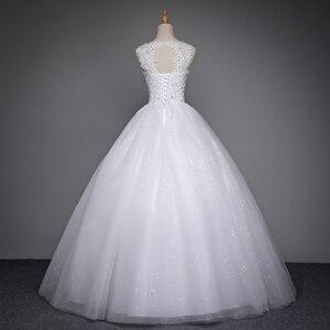 Image 2 - Fansmile 2020 Robe De Mariage prenses beyaz balo gelinlik Vestido De Noiva artı boyutu özel gelinlikler FSM 023F