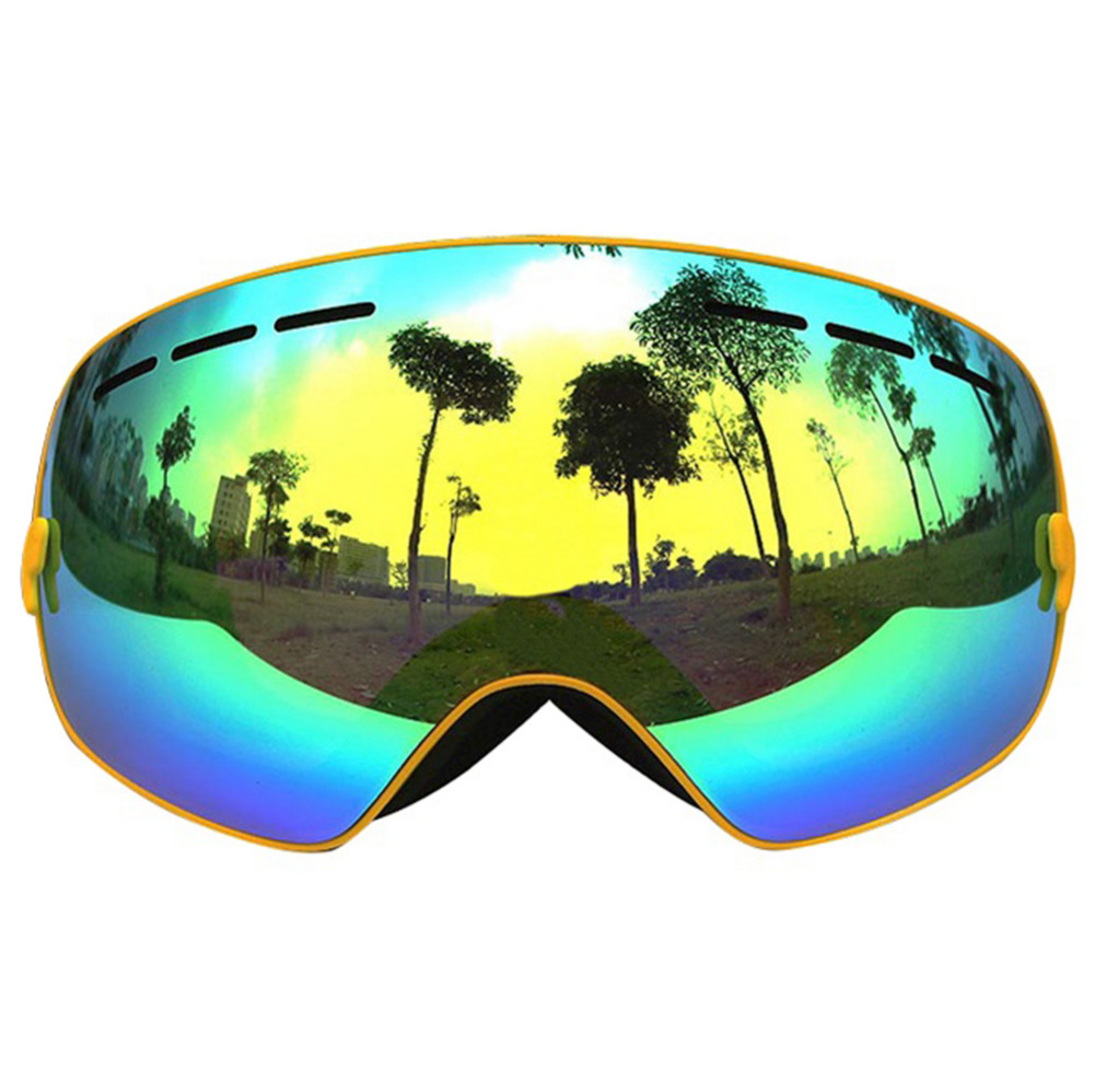 цена на Spherical Winter ski goggles double layers UV400 anti-fog big ski mask glasses skiing men women snow snowboard goggles GOG-201