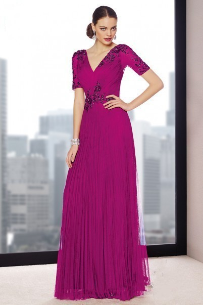 Fuchsia Mother of the Bride Dress