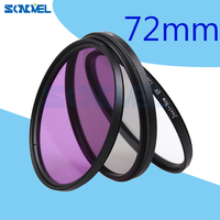 72mm UV Lens Filter UV CPL FLD Lens Filter Kit For Canon 760D 750D 700D 100D