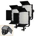 LED Video Studio Light (3 Pack) alto CRI 90 + con Portátil Personalizado Bolsa de Transporte para 3 LUZ de Vídeo LED para Cámaras RÉFLEX
