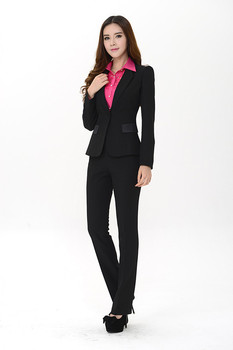 Hot Selling Notch Lapel One Button Black Custome Made New Arrival High Quality Business Suits Autumn Winter Fashion Ladies