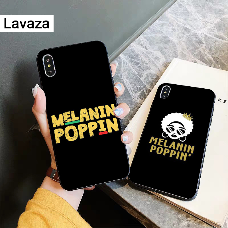 Lavaza 2bunz Melanin Poppin Aba Silicone Case for iPhone 5 5S 6 6S Plus 7 8 11 Pro X XS Max XR in Fitted Cases from Cellphones Telecommunications