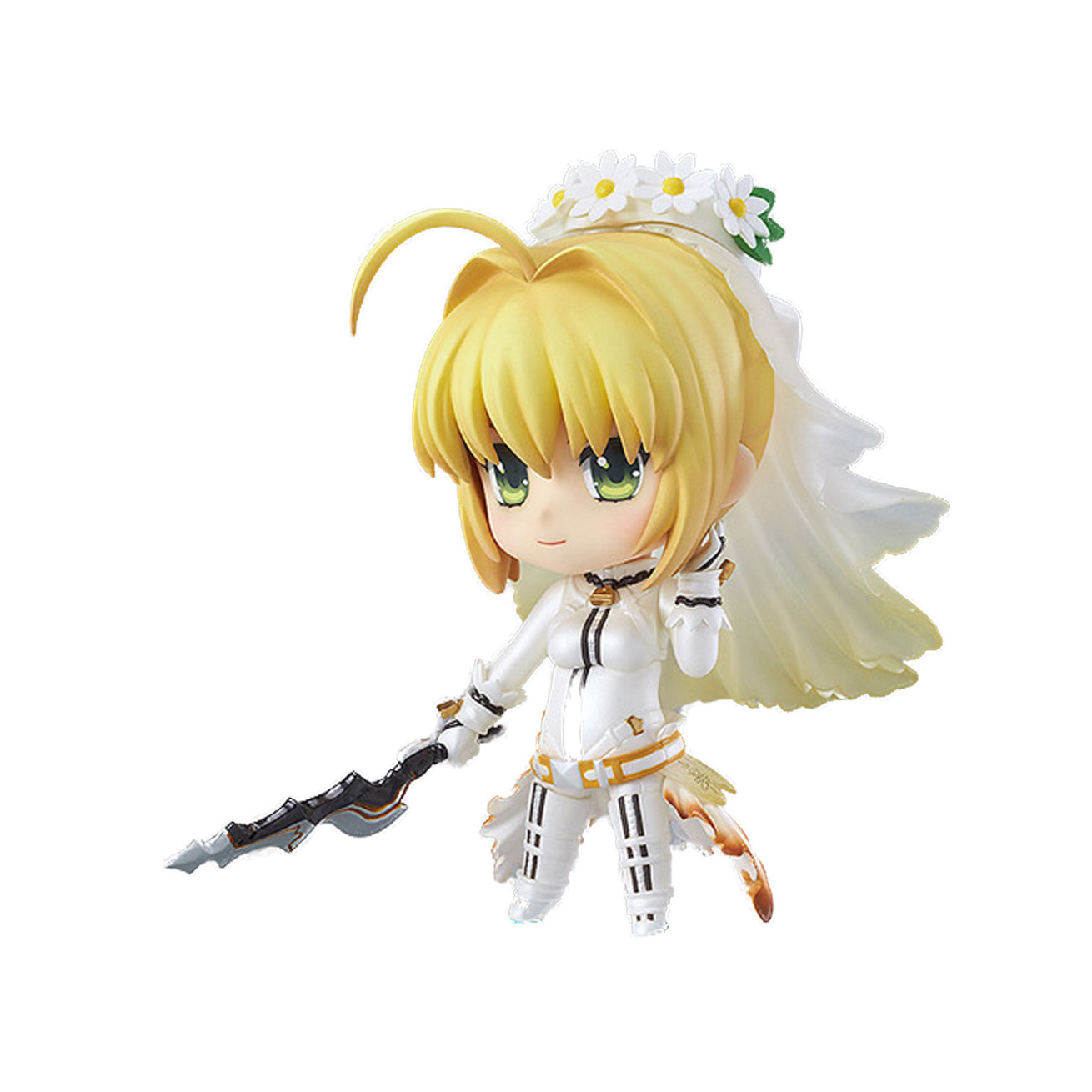 Chanycore GSC Nendoroid 387# Fate Stay Night Saber Bride Wedding dress PVC FATE/ZERO Anime Action Figure Collection Toy 10cm 4''