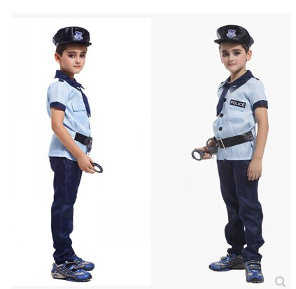 Halloween Party New Arrival Super Police Cosplay Costume For Kids Cute Children Costumes Boy Fancy dress