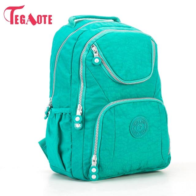 e226fd356d TEGAOTE Fashion Women Backpack Waterproof Nylon Backpacks For Teenage Girl  School Bag Women Laptop Bag Mochila