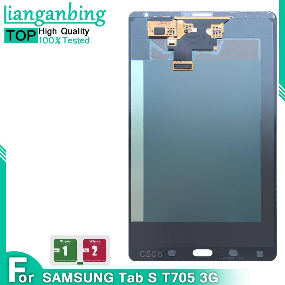 """100% Tested working lcd For Samsung GALAXY Tab S T705 LTE 3G 8.4"""" LCD Display Touch Screen Digitizer Replacement parts"""