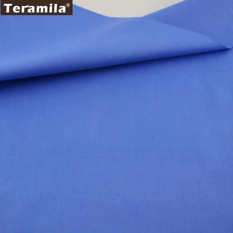 Home Textile Material Qulting Bed Sheet Patchwork 100%  Cotton Fabric Fat Quarter  Classic Solid Blue Color Twill Fabric Tela