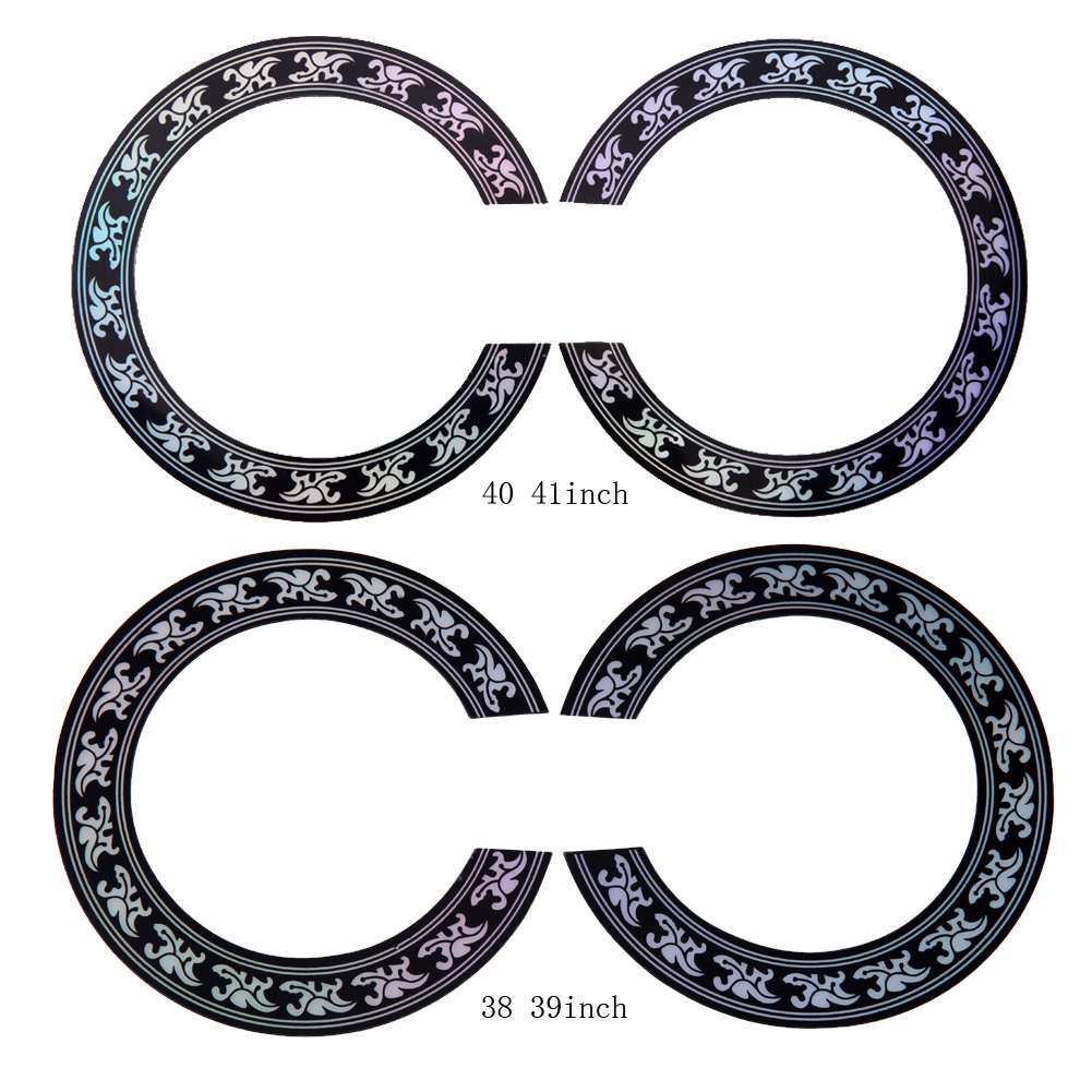 40 41 inch/38 39 inch Size Hard PVC Guitar Circle Sound Hole Rosette Inlay for Acoustic Guitars Decal Accessories Promotion New 20pcs new style soundhole rosette acoustic body project maple guitar parts