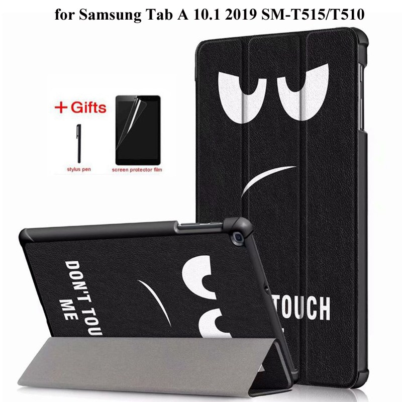 Capa de couro inteligente para Samsung Galaxy Tab 2019 SM-T515 T510 T515 Funda Tablet Levante a tampa para o Samsung Tab UM 10.1 2019 caso