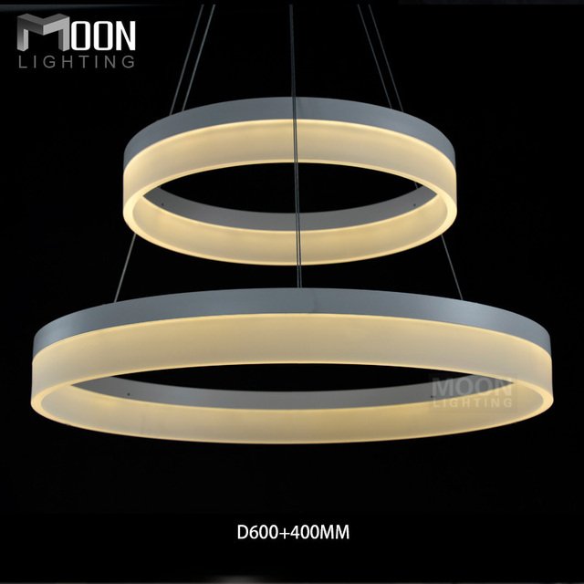 Acrylic modern pendants led round ring light design suspension acrylic modern pendants led round ring light design suspension lighting aluminum in white led room light aloadofball Image collections