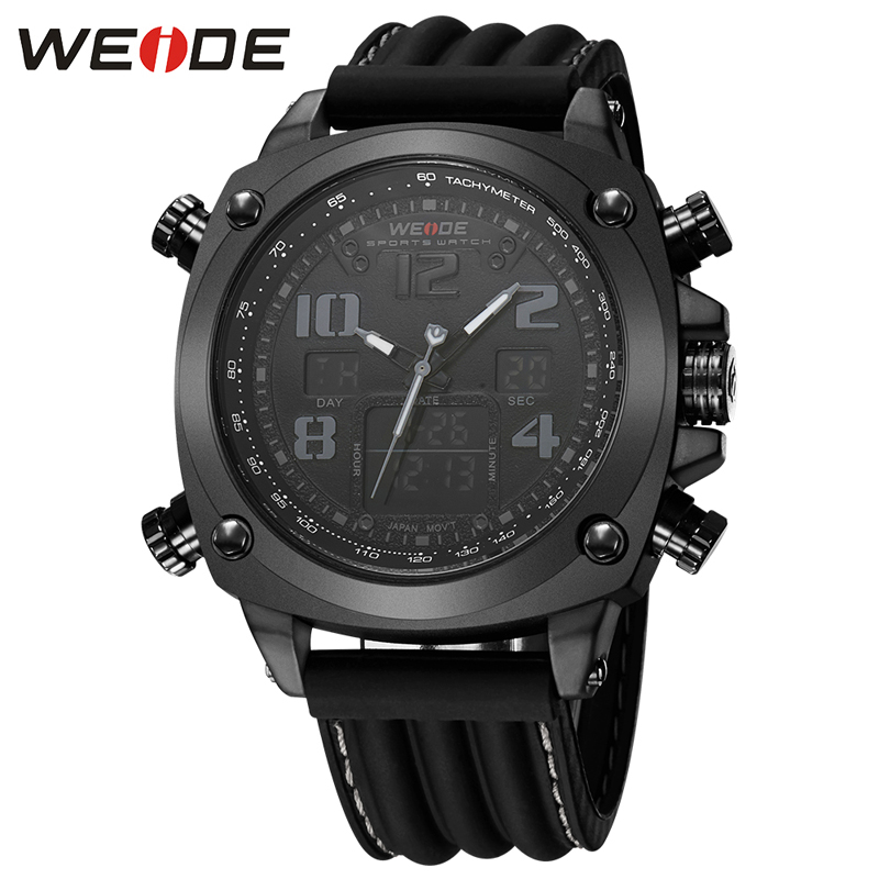2018 Top Luxury Brand WEIDE Men Fashion Sports Watches Men's Quartz Male Clock Man Army Military Wrist Watch Relogio Masculino weide watches men luxury brand multiple time zone compass military sports watch men quartz wristwatch clock relogio masculino