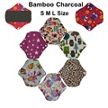S M L Reusable Waterproof Bamboo Charcoal Cloth Panty Liner Sanitary Pads Menstrual Cloth Pads Health and Beauty Products